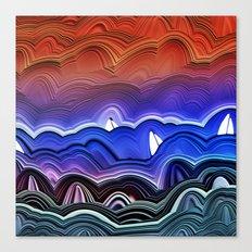 Ships at Sea Canvas Print