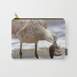 Watercolor Bird, Willet 06, Eating Rusty Crayfish, Longmont, Colorado, Shore Haul Carry-All Pouch
