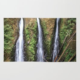 Triple Falls in the Columbia River Gorge Rug
