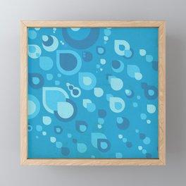 Geometric rain drops Framed Mini Art Print