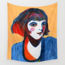 Wild-Hair Lady No.2: #Female #Empowerment #Watercolors Wall Tapestry