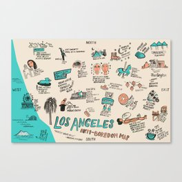 Anti-Boredom Map  Canvas Print