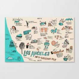 Anti-Boredom Map  Canvas Print