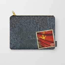 Sticker of Soviet Union (1922-1991) flag Carry-All Pouch