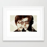 arctic monkeys Framed Art Prints featuring AM II by Your Music Design