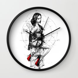 Love and Geometry. INK ART. Yury Fadeev Wall Clock