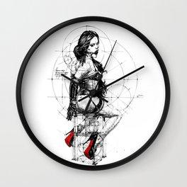 Love and Geometry. INK ART. Yury Fadeev Wall Clock