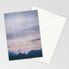 Life is either a daring adventure or nothing at all I Stationery Cards