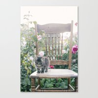 austin Canvas Prints featuring Austin by With Love & Lace...