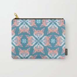 Pastel Fox Pattern Carry-All Pouch