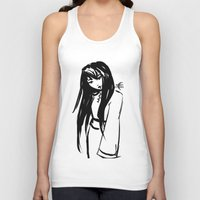 asian Tank Tops featuring Asian Smile by Saska Ithiur