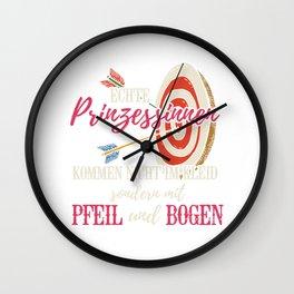 Pfeil und Bogen Schützin Prinzessin Wall Clock