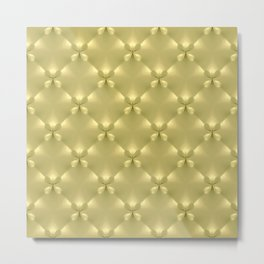 Bright Gold Studded Quilt Repeat Pattern Metal Print