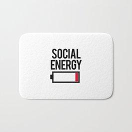 Social energy low Bath Mat