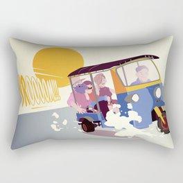 STAY AT HOME DAD - Family tuk-tuk trip Rectangular Pillow