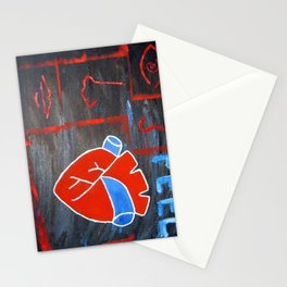 Android heart (black), 2011 Stationery Cards