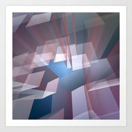 Kissing the sky, geometric fractal abstract Art Print