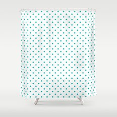 Dots (Tiffany Blue/White) Shower Curtain