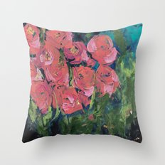 Abstract Rose Garden  Throw Pillow
