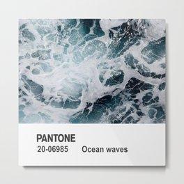 PANTONE - Ocean waves Metal Print