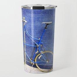 Blue Tall Bike Travel Mug