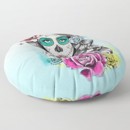 Aaliyah - Day of the Dead Floor Pillow