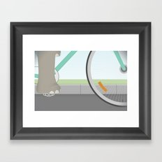 Elephants Can Ride Bicycles Too Framed Art Print