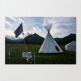 Alaskan Campout-2 Canvas Print