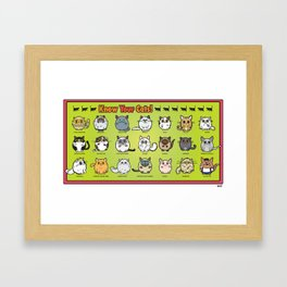 Know Your Cats  Framed Art Print