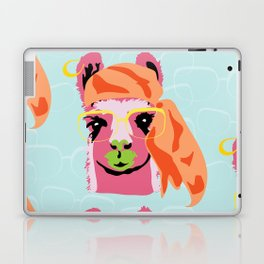 Pop Llama: Blue Laptop & iPad Skin