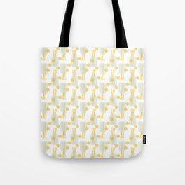 Modern pastel green orange fruit pasta abstract pattern Tote Bag