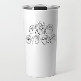 Awesome American Sign Language design Gift Awesome ASL graphic Travel Mug