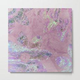 Glory Mandala in Pink Metal Print