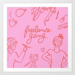 Freelance Gang Art Print