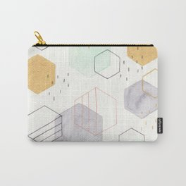 Hexagon Scatter Carry-All Pouch