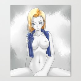 DBZ - Android 18 Canvas Print