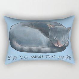 Sleepy Cat - 20 minutes more - Lazy Animals Rectangular Pillow