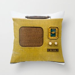 Vintage Radio Throw Pillow