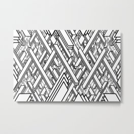 Layered Lines Metal Print