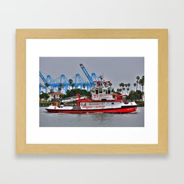 "Los Angeles Fire Boat ""San Pedro California  Framed Art Print"