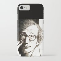 woody allen iPhone & iPod Cases featuring Woody Allen by Frances Roughton