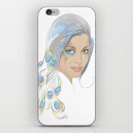 Peacock Rai iPhone Skin