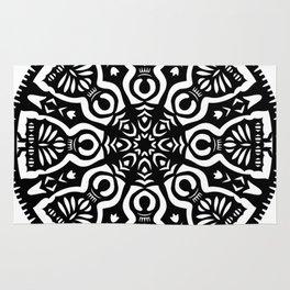 Polish Papercut Dancers Black Rug