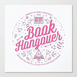 Book Hangover (Pink) Canvas Print