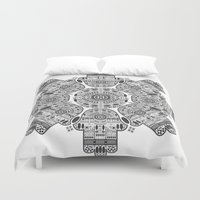 hamsa Duvet Covers featuring Hamsa by Paint it graphics