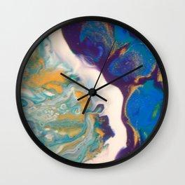 Fluid Nature - Dividing Line - Abstract Acrylic Art Wall Clock