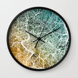 Rome Italy City Map Wall Clock