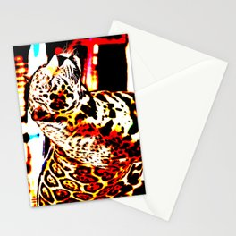 Abstract Leopard Stationery Cards