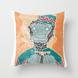 The Flying Chango Throw Pillow