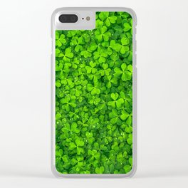 Shamrock Saint Patrick's Day Lucky Clover Clear iPhone Case